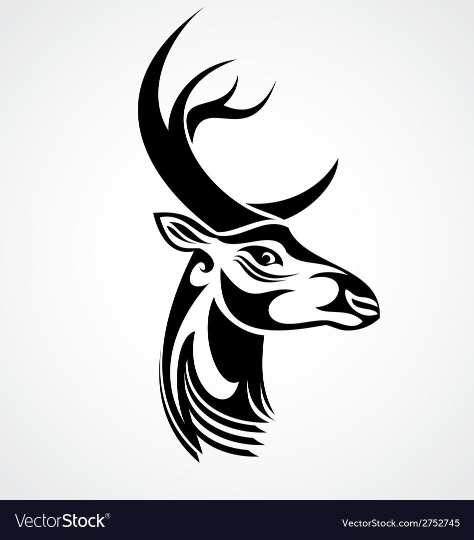 Tribal deer head vector | Price: 1 Credit (USD $1)