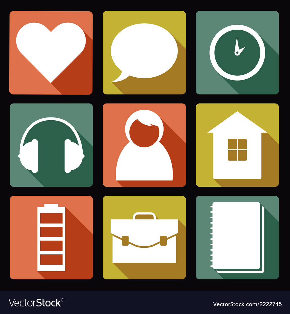 User flat icons 1 vector | Price: 1 Credit (USD $1)