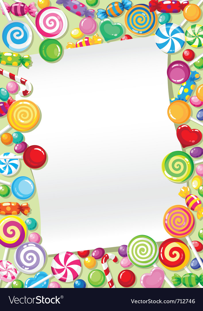 Candy card vector