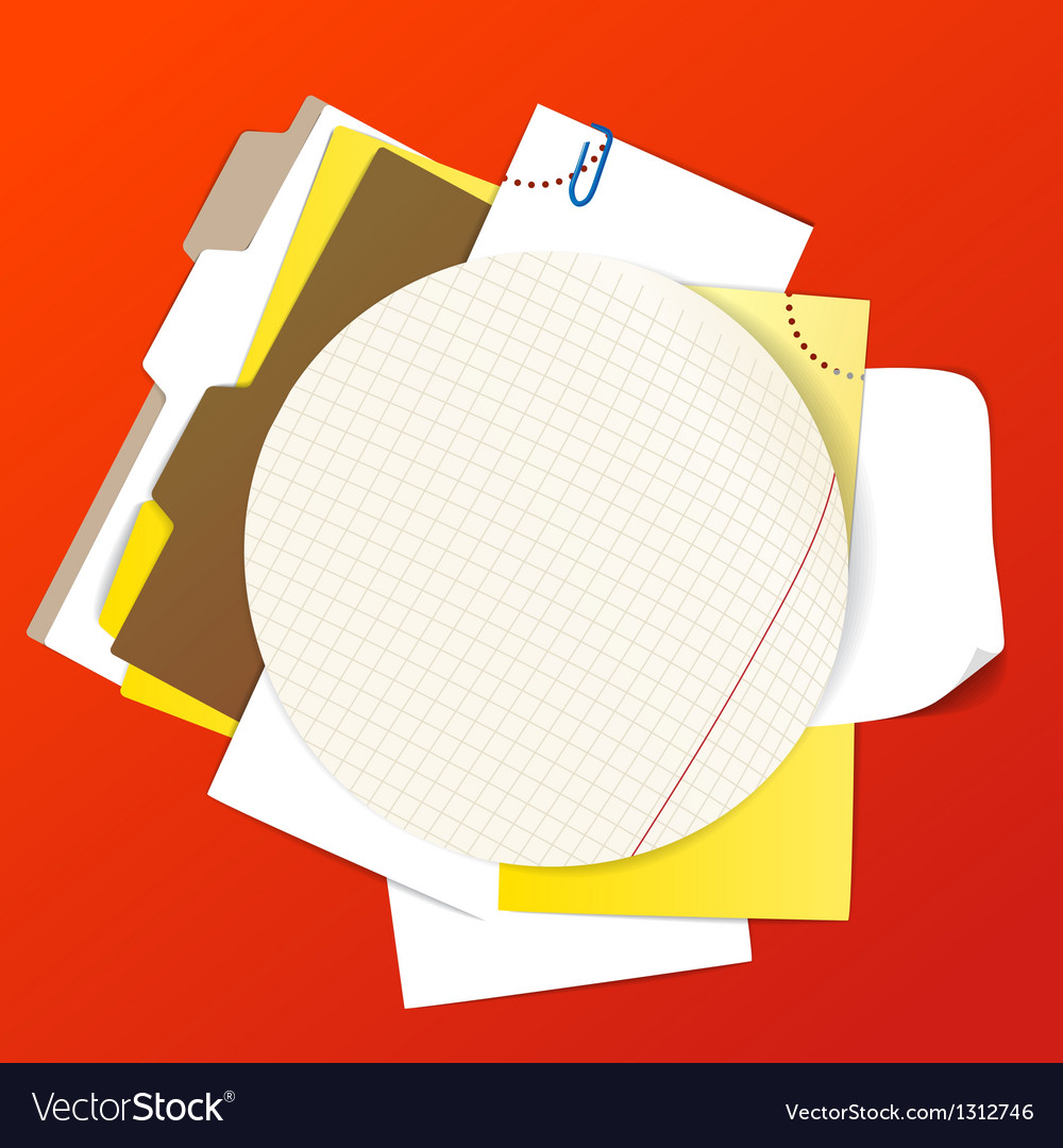 Circular background of an office stuff vector | Price: 1 Credit (USD $1)