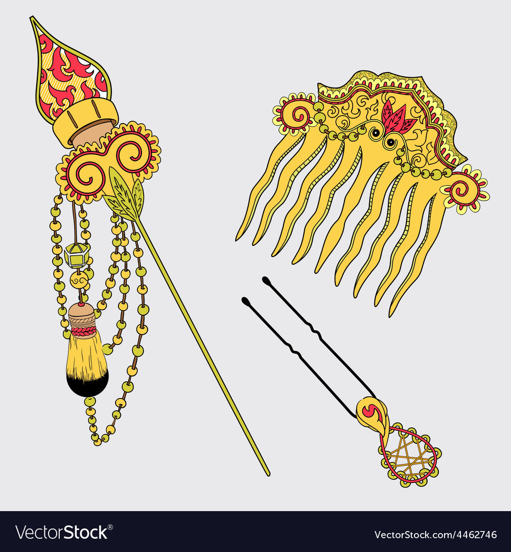 Hairpins in vector   Price: 1 Credit (USD $1)