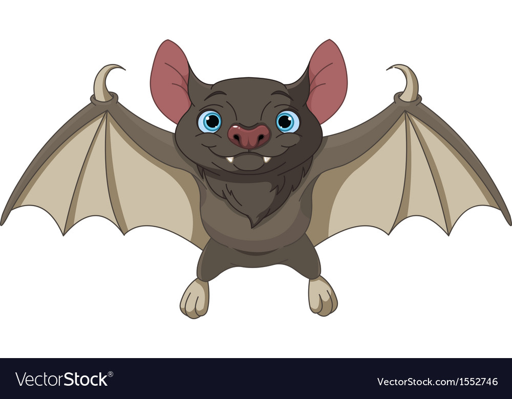 Halloween bat flying vector | Price: 3 Credit (USD $3)