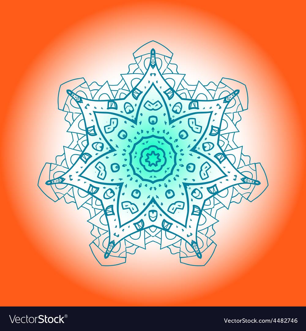 Oriental mandala motif mehndi paint karma vector | Price: 1 Credit (USD $1)