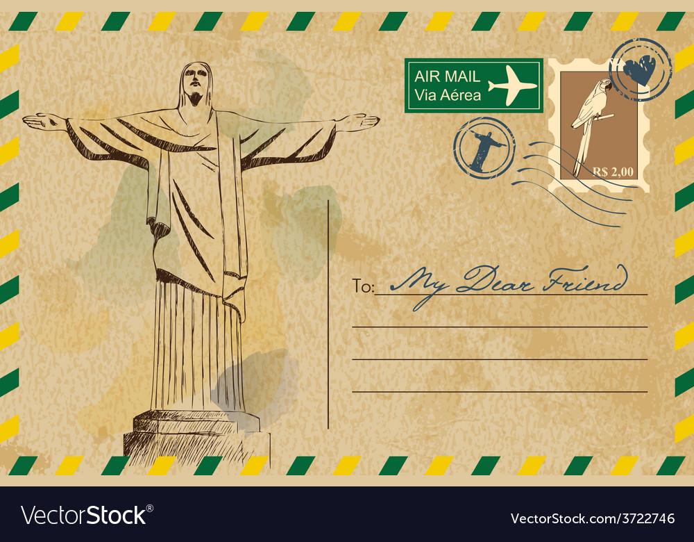 Postcard from rio de janeiro vector   Price: 1 Credit (USD $1)