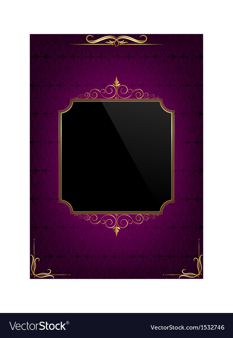 Purple celebration card vector | Price: 1 Credit (USD $1)