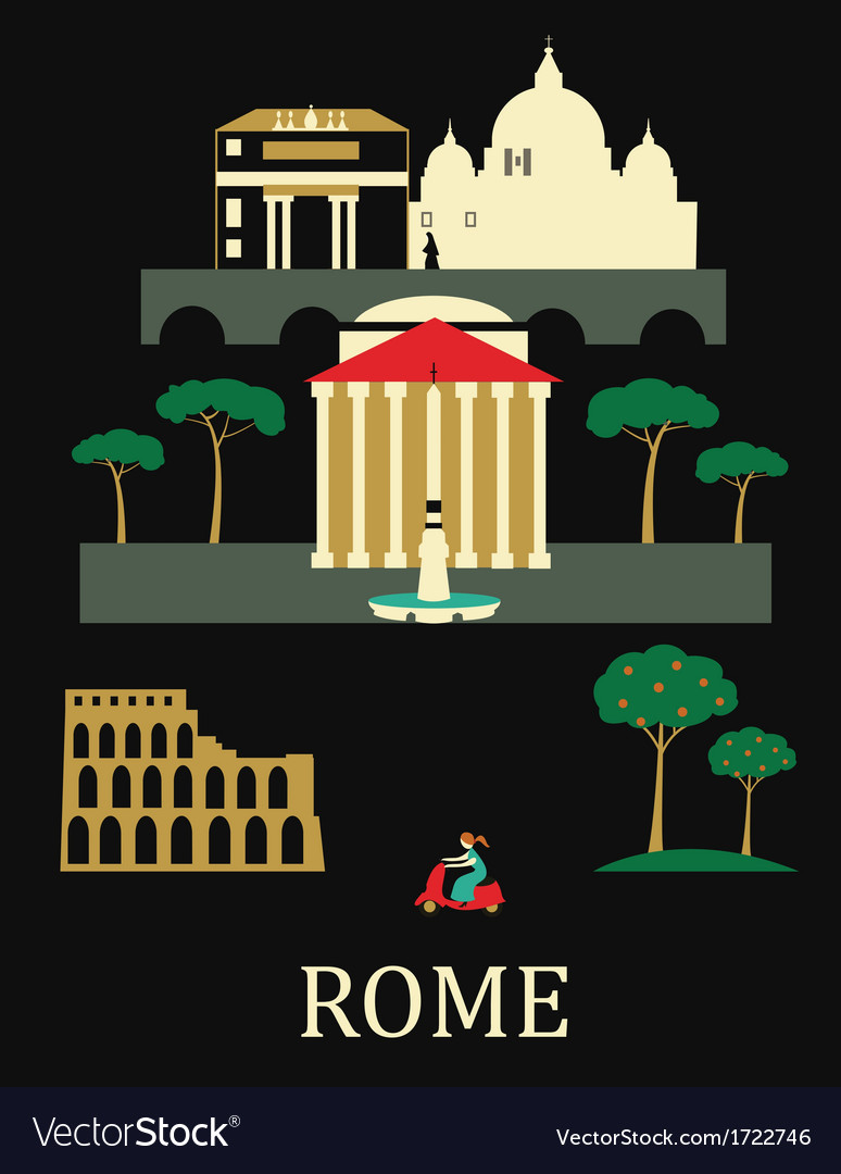 Rome italy vector | Price: 1 Credit (USD $1)
