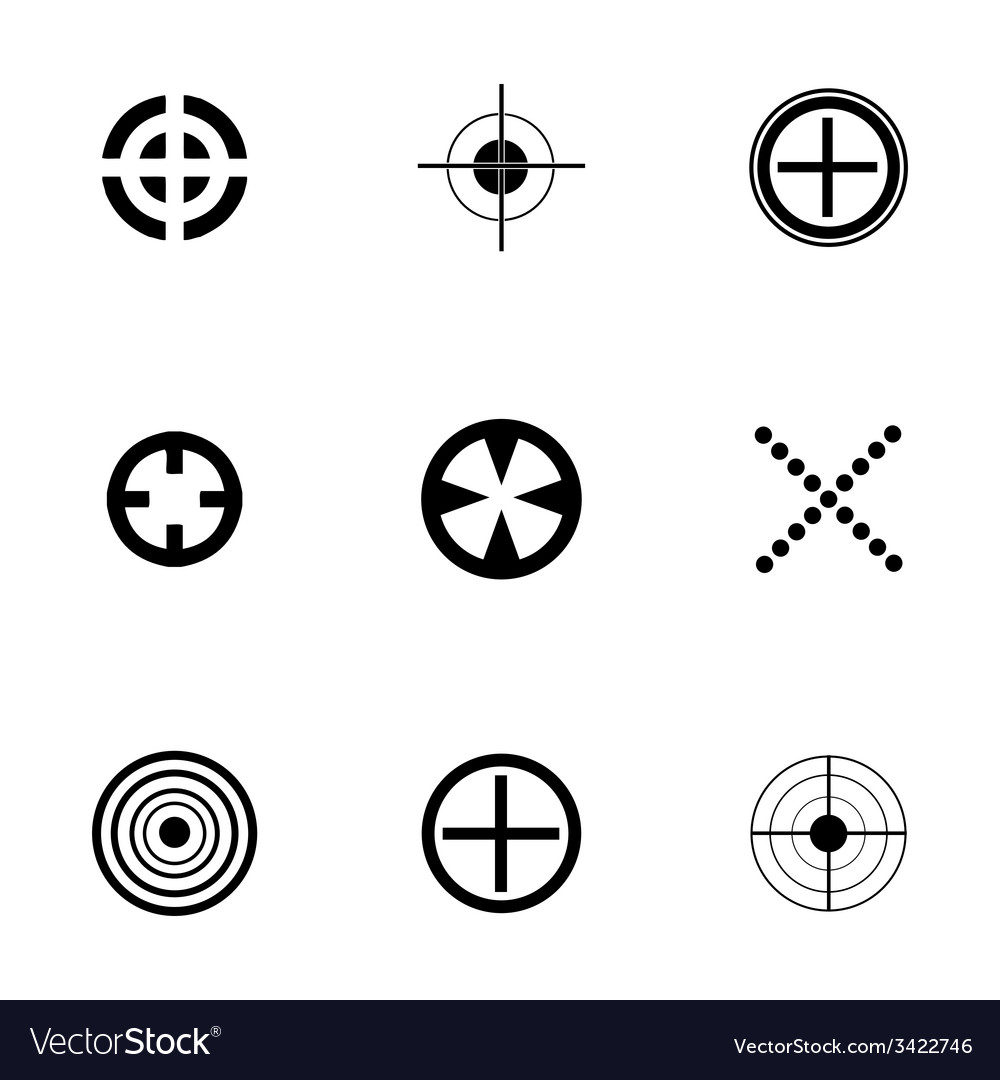 Target icons set vector | Price: 1 Credit (USD $1)