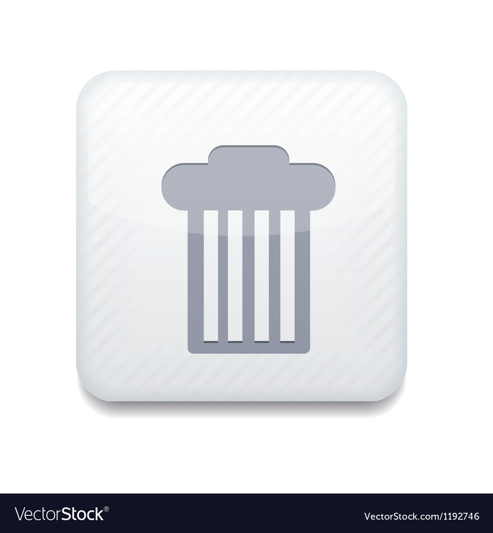 White bin icon eps10 easy to edit vector | Price: 1 Credit (USD $1)