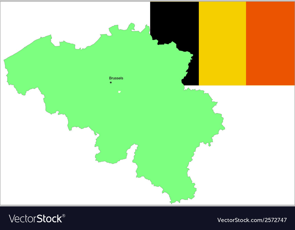 6138 belgium map and flag vector | Price: 1 Credit (USD $1)