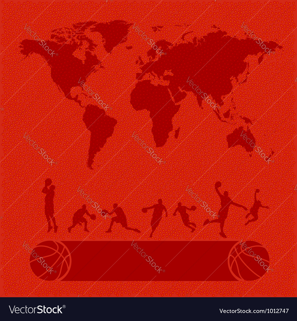 Basketball set texture background vector | Price:  Credit (USD $)