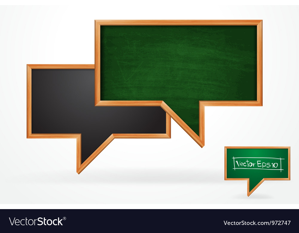Blackboard speech bubble vector | Price: 1 Credit (USD $1)