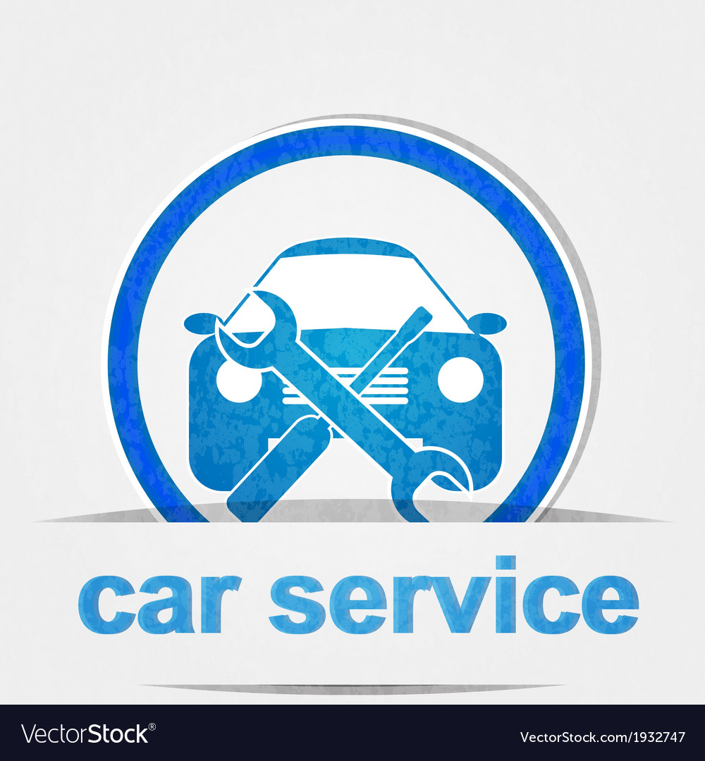 Car service icon vector | Price: 1 Credit (USD $1)