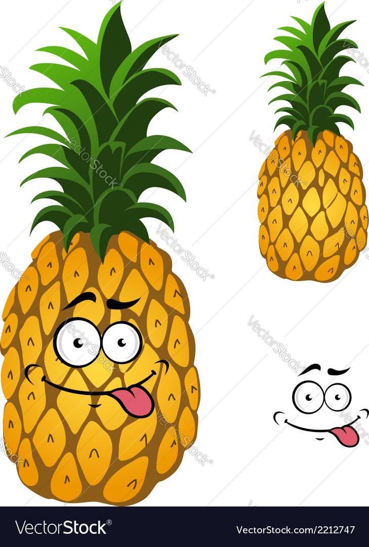 Cartoon pineapple fruit vector | Price: 1 Credit (USD $1)