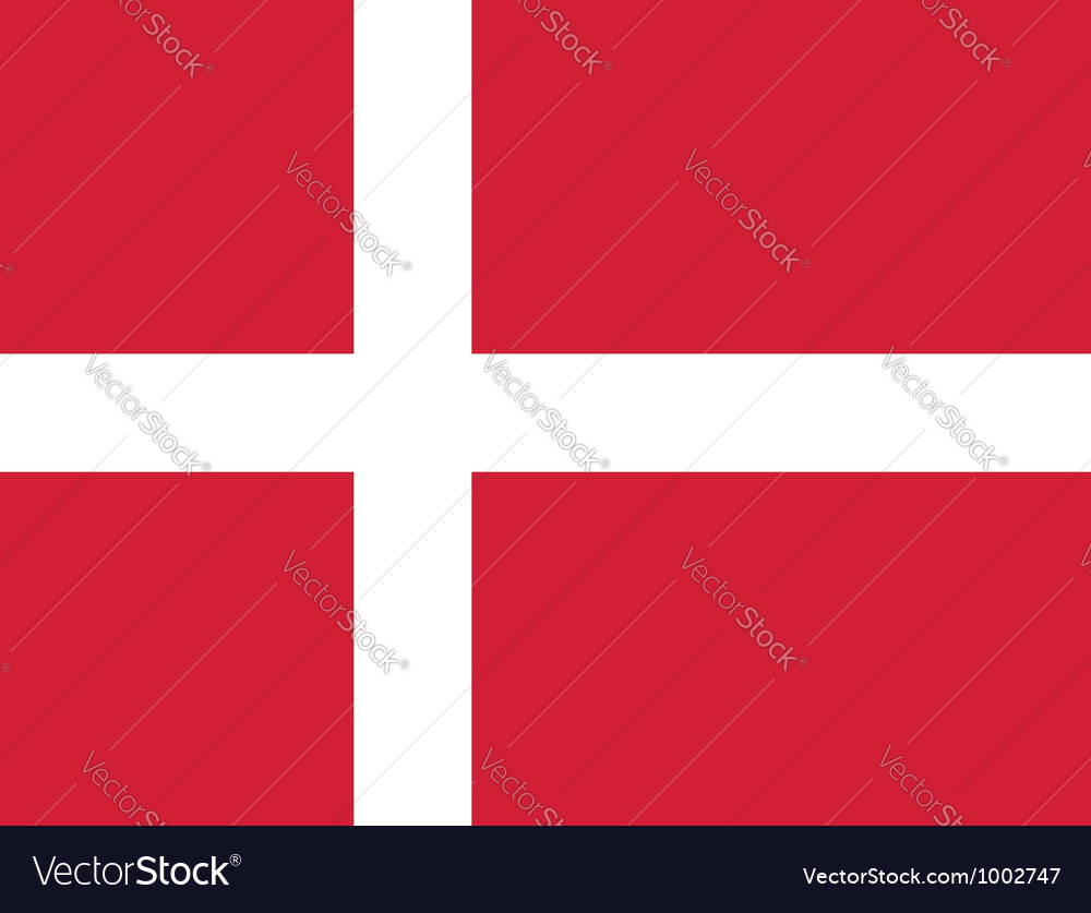 Denmark flag vector | Price: 1 Credit (USD $1)