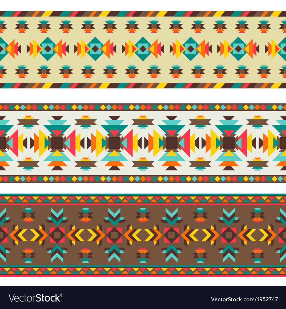 Ethnic seamless pattern in native style vector | Price: 1 Credit (USD $1)