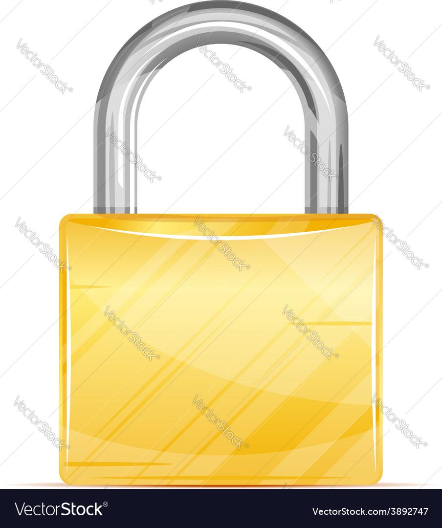 Golden padlock icon vector | Price: 1 Credit (USD $1)