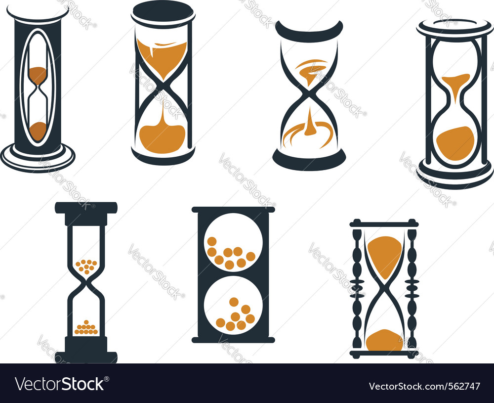 Hourglass symbols vector | Price: 1 Credit (USD $1)