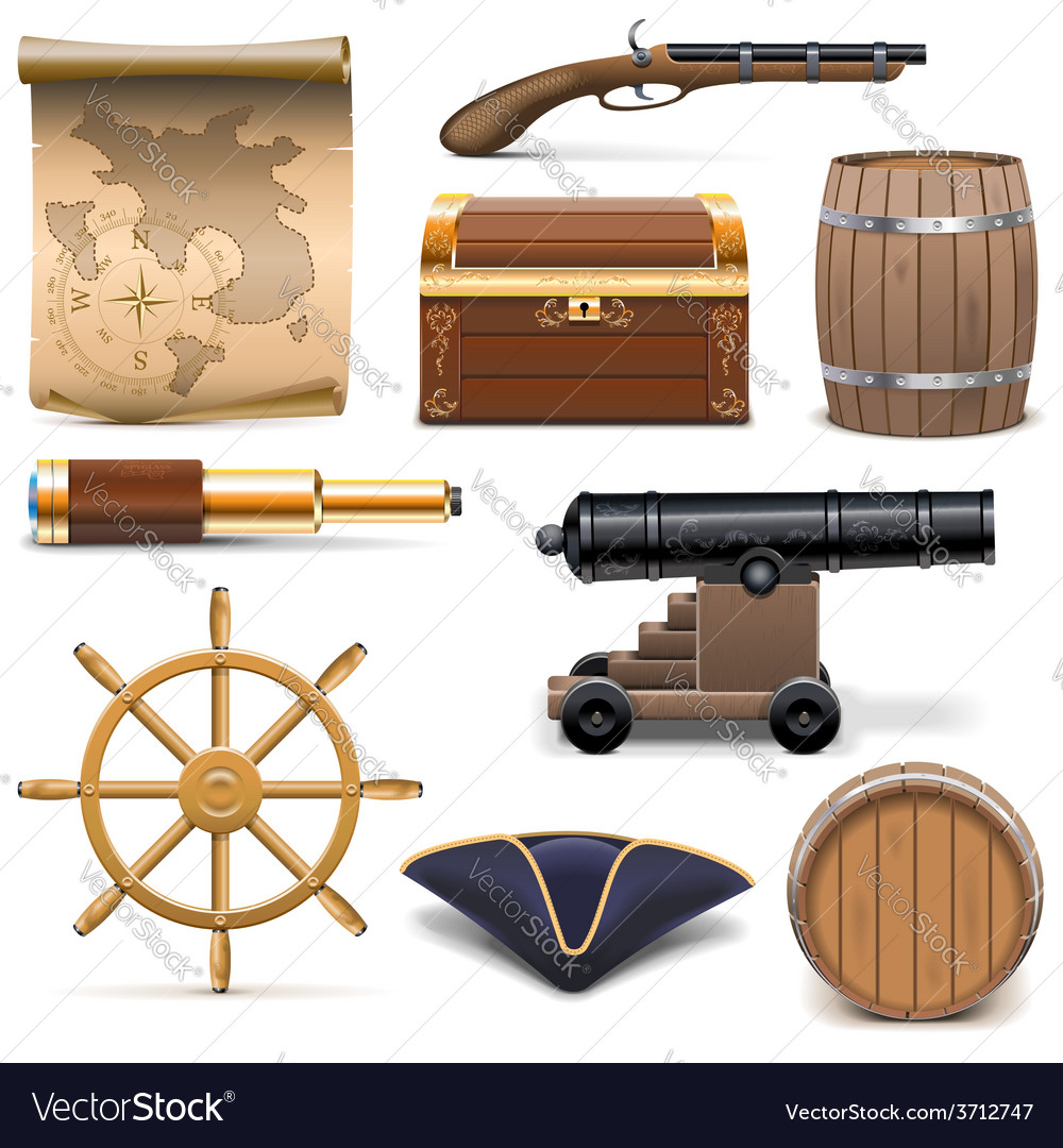 Pirate icons vector | Price: 3 Credit (USD $3)