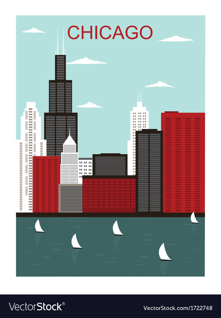 Chicago city vector | Price: 1 Credit (USD $1)