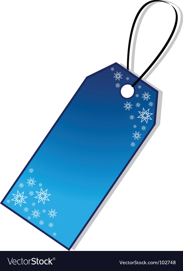 Christmas gift tag vector | Price: 1 Credit (USD $1)