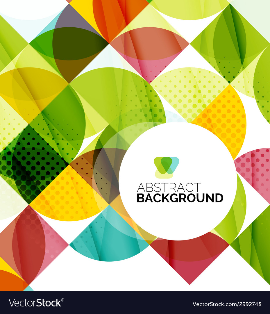 Circle geometric abstract background vector | Price: 1 Credit (USD $1)