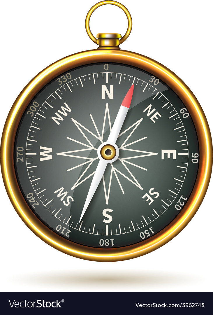 Compass realistic isolated vector | Price: 1 Credit (USD $1)