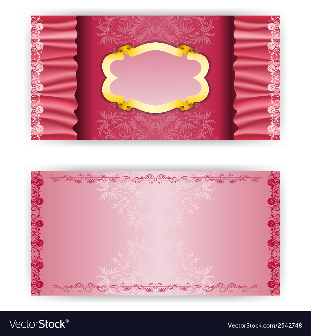 Elegant template luxury invitation with red vector | Price: 1 Credit (USD $1)