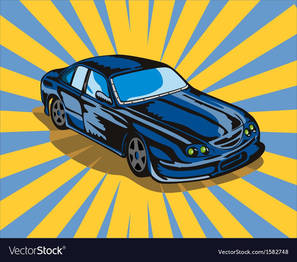 Ford gt car retro vector | Price: 1 Credit (USD $1)