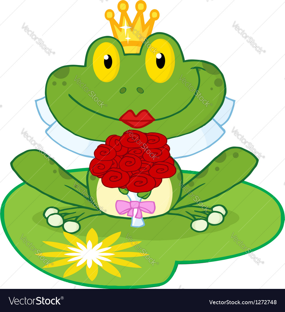 Frog bride on a lilypad vector | Price: 1 Credit (USD $1)
