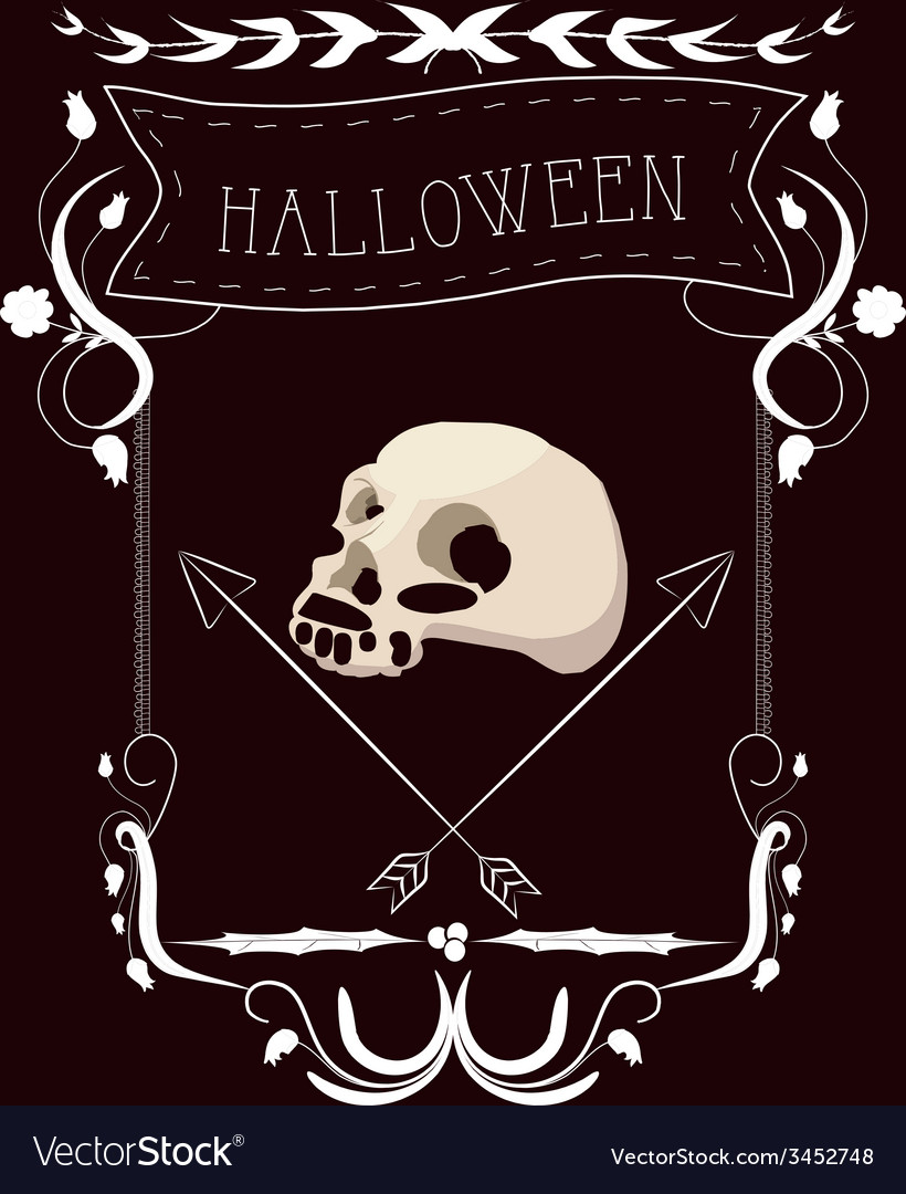 Halloween vintage frames and floral ornaments vector   Price: 1 Credit (USD $1)
