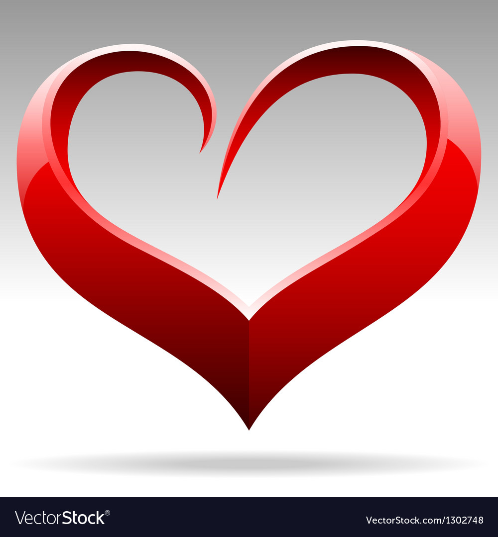 Heart shape sign vector | Price: 1 Credit (USD $1)