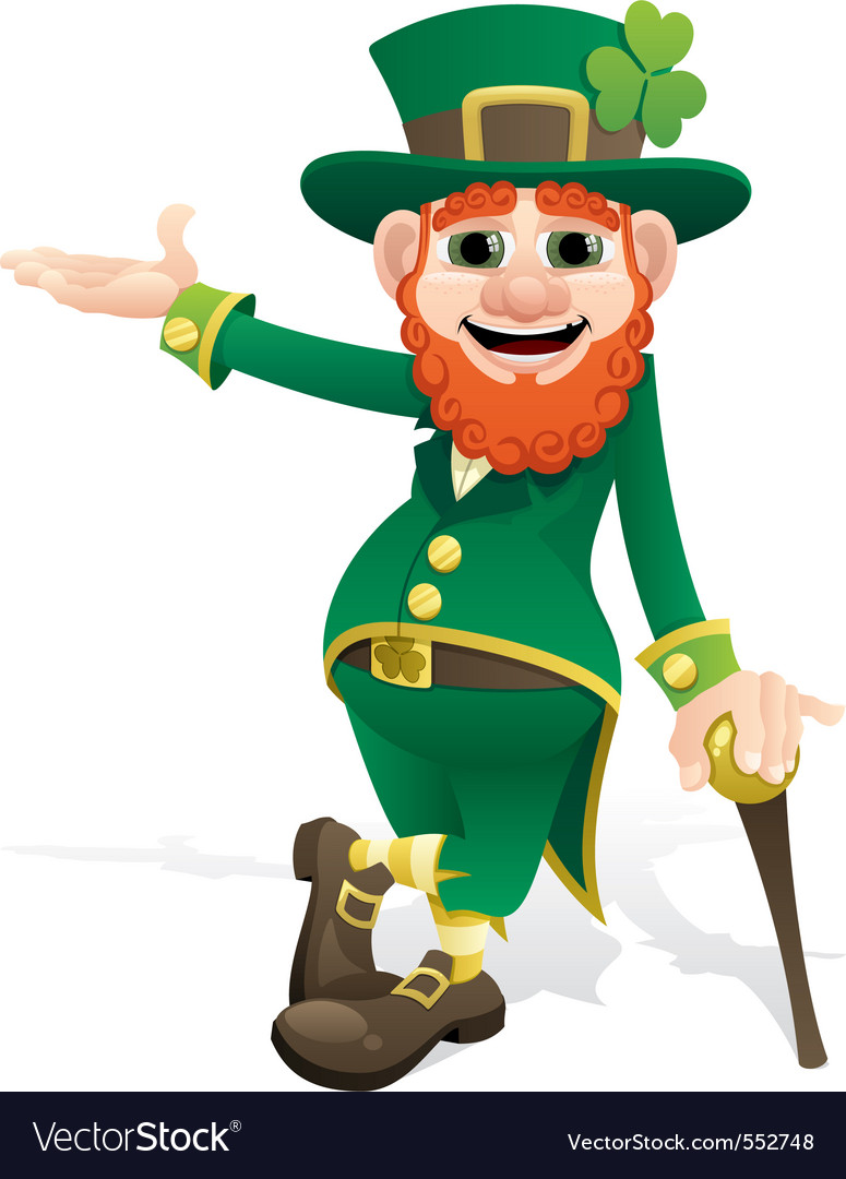Leprechaun presenting vector | Price: 1 Credit (USD $1)
