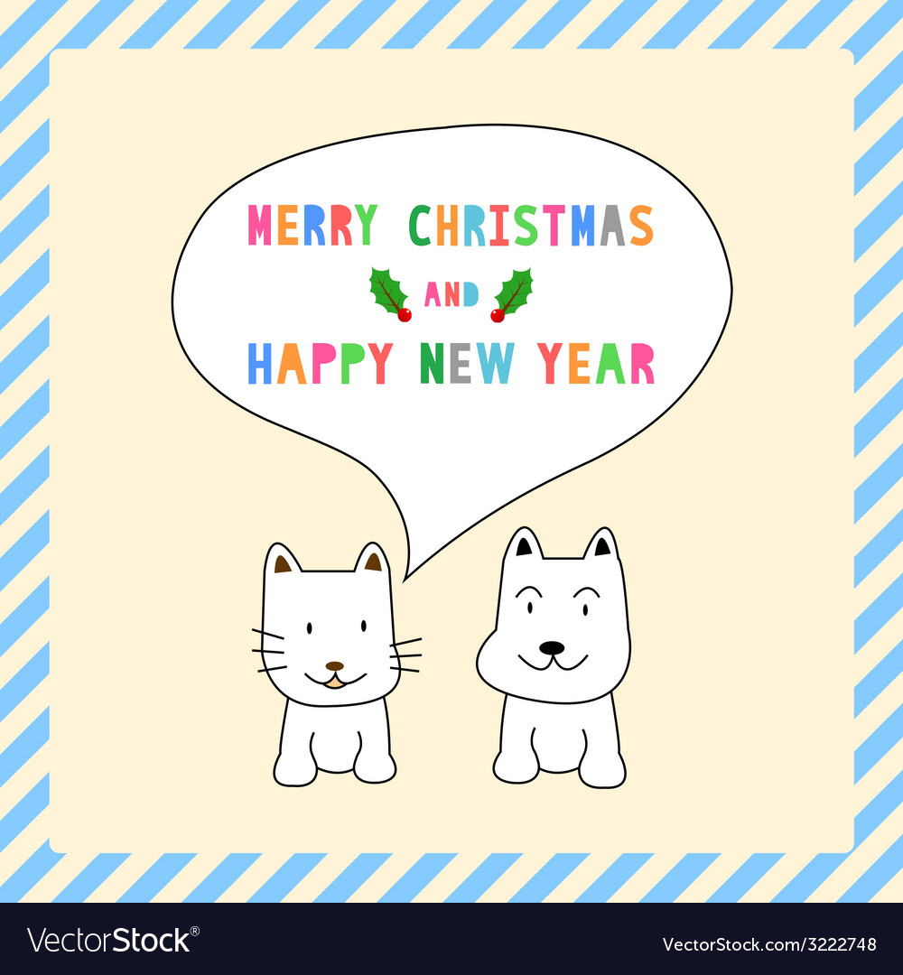 Mc and hny greeting card13 vector | Price: 1 Credit (USD $1)
