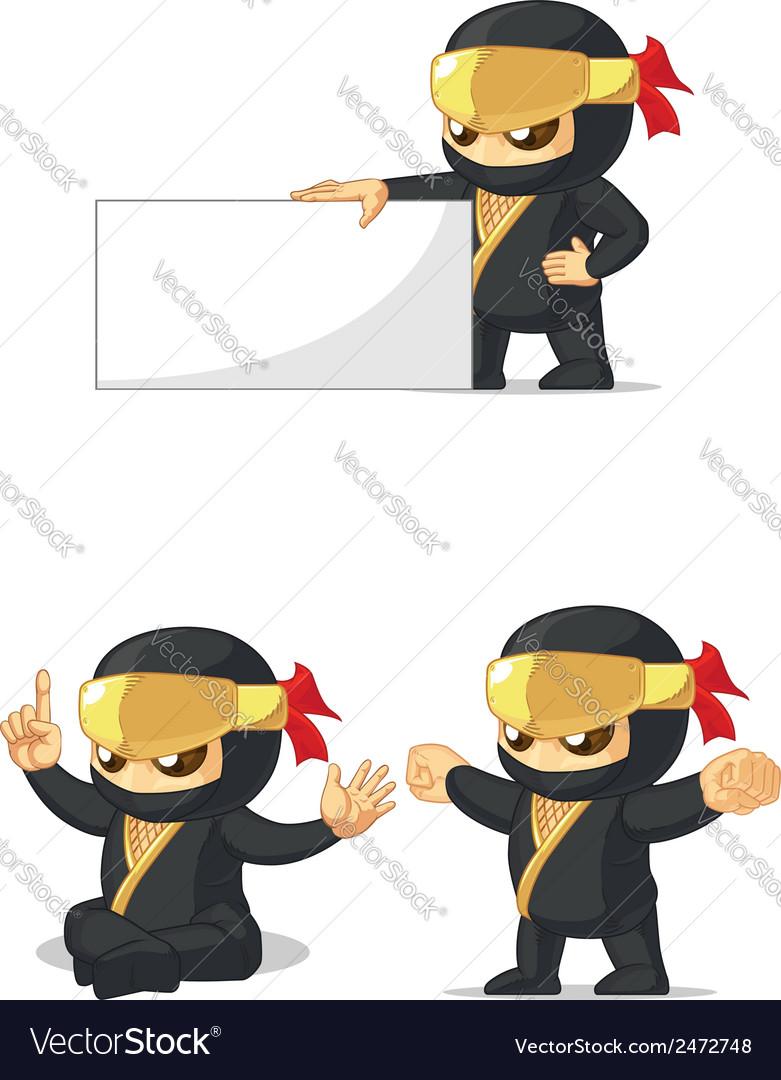 Ninja customizable mascot 13 vector | Price: 1 Credit (USD $1)