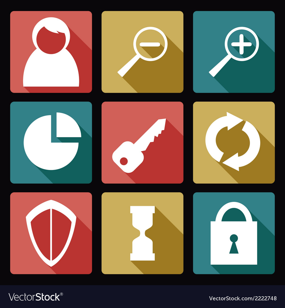 User flat icons 2 vector   Price: 1 Credit (USD $1)