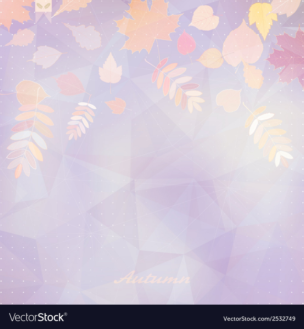 Abstract autumn with maple leaves vector | Price: 1 Credit (USD $1)