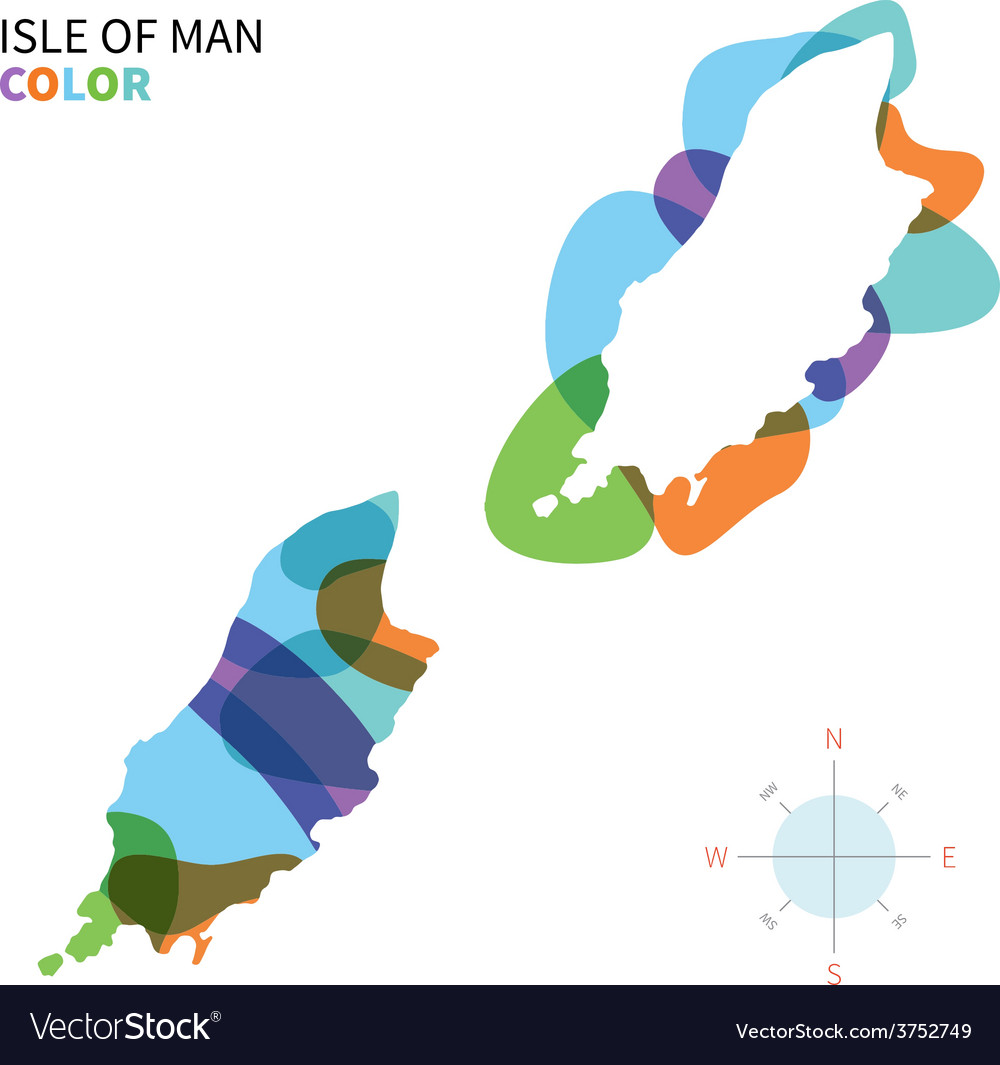 Abstract color map isle of man vector | Price: 1 Credit (USD $1)