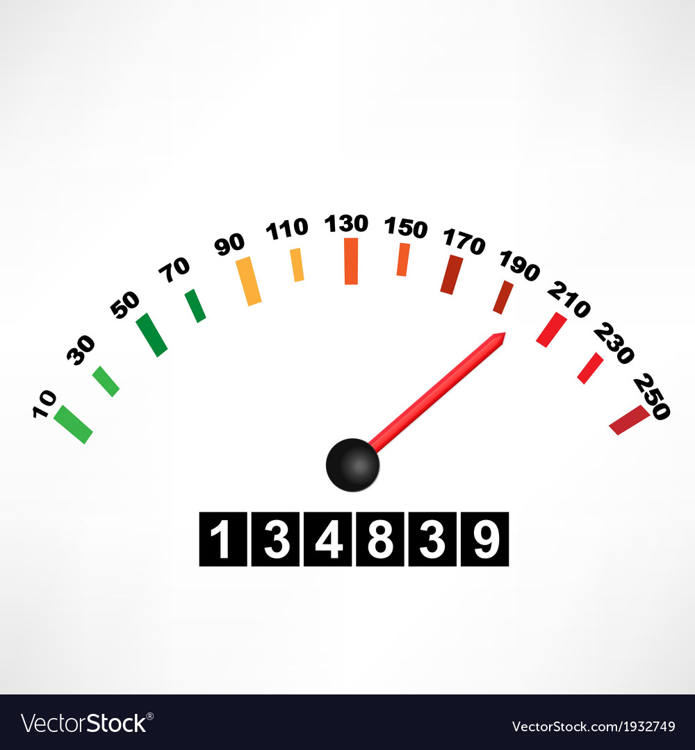 Car speedometer vector   Price: 1 Credit (USD $1)