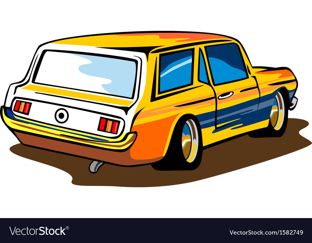 Ford mustang station wagon retro vector | Price: 1 Credit (USD $1)