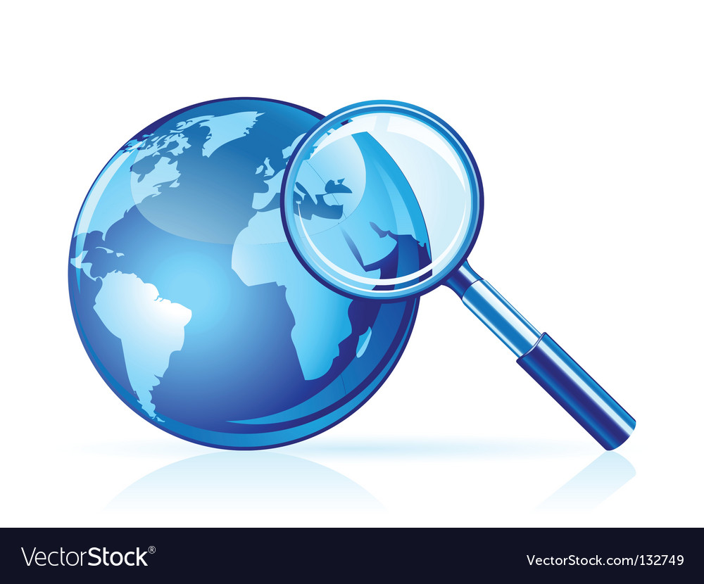 Global search icon vector | Price: 1 Credit (USD $1)