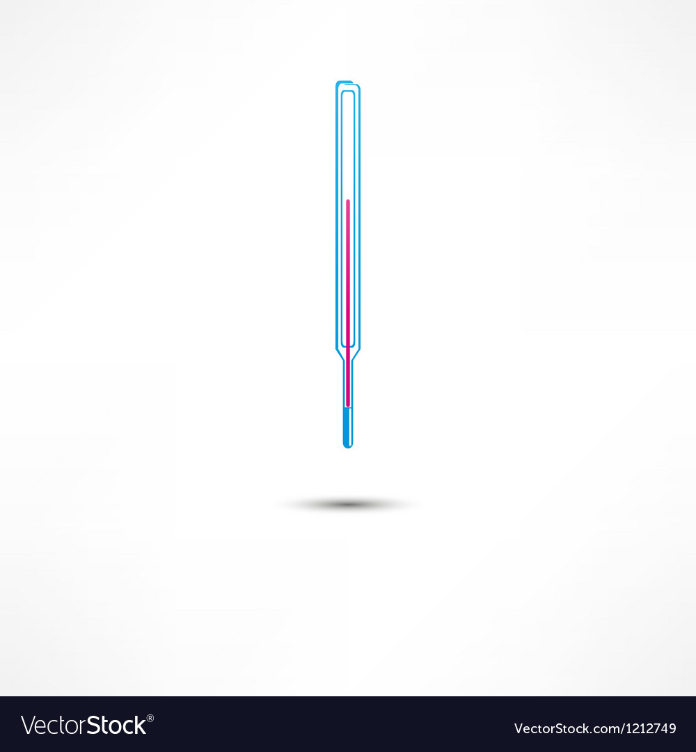 Medical thermometer icon vector | Price: 1 Credit (USD $1)