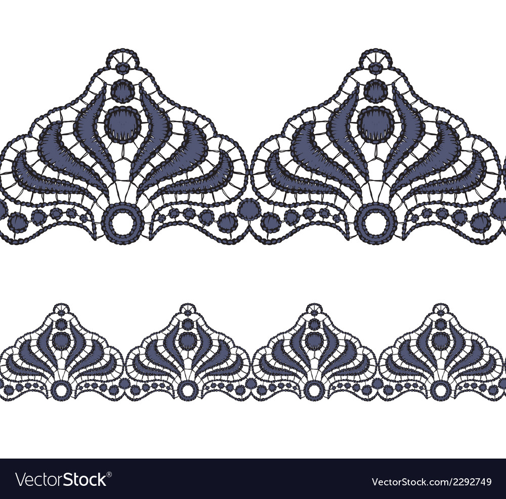 Seamless openwork lace border realistic vector | Price: 1 Credit (USD $1)