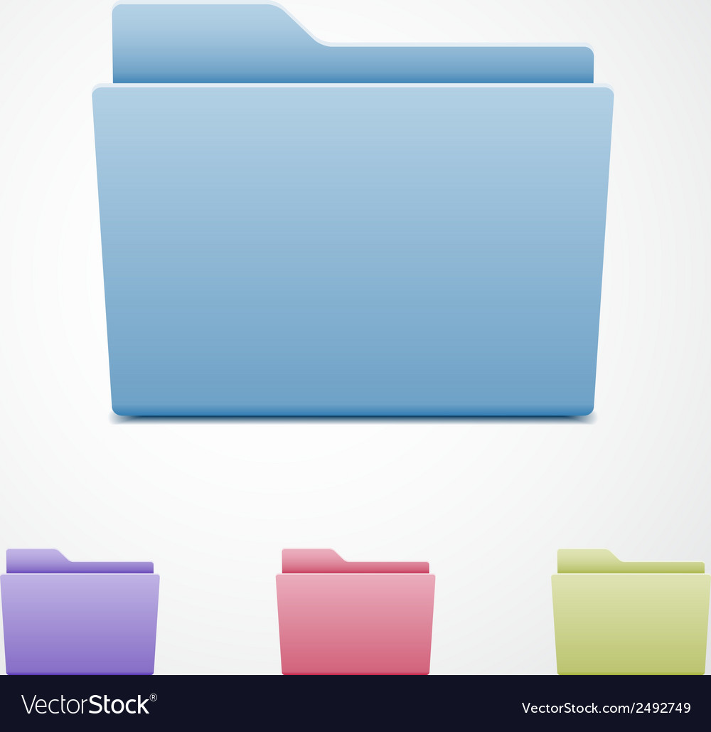 Set of computer folders vector | Price: 1 Credit (USD $1)