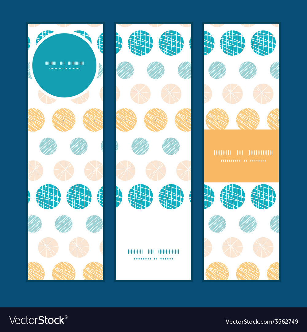 Texture circles stripes abstract vertical banners vector | Price: 1 Credit (USD $1)
