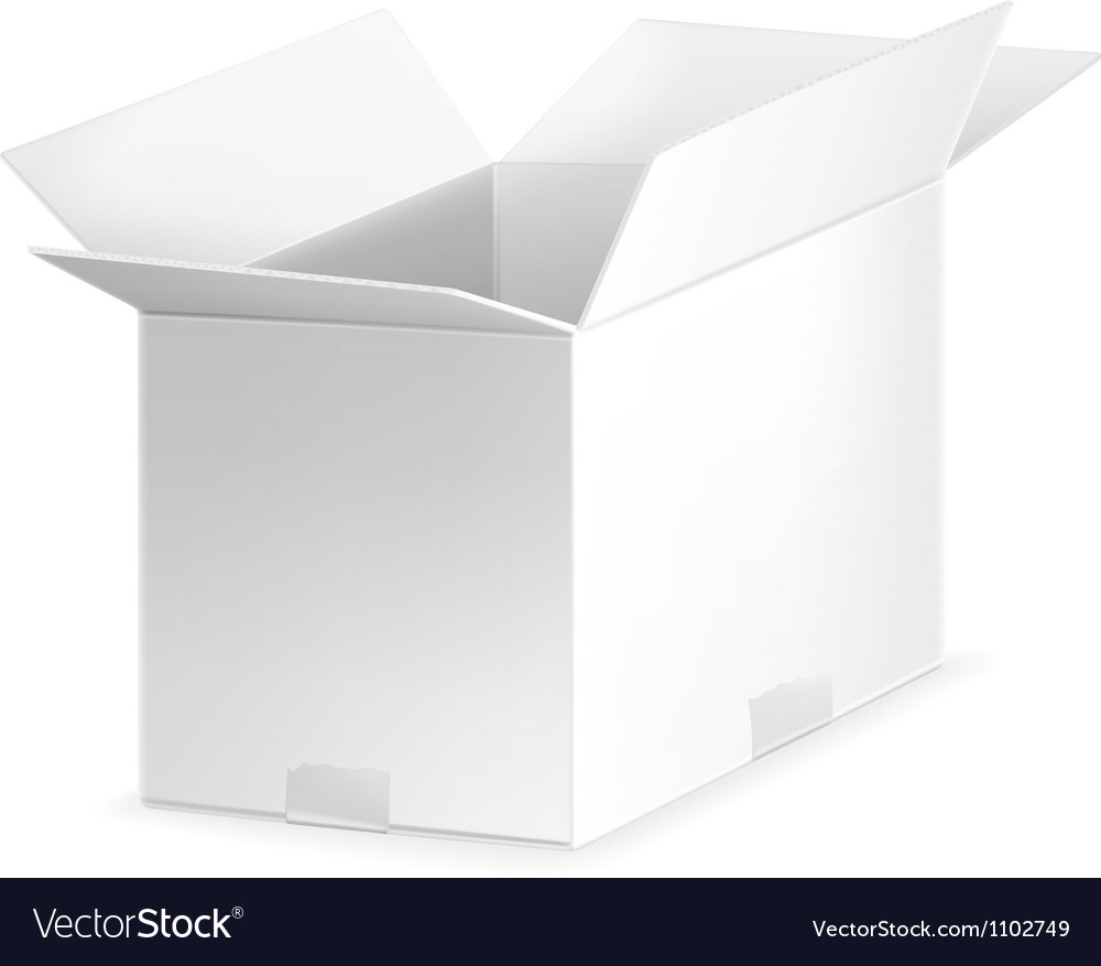 White open carton box vector | Price: 1 Credit (USD $1)