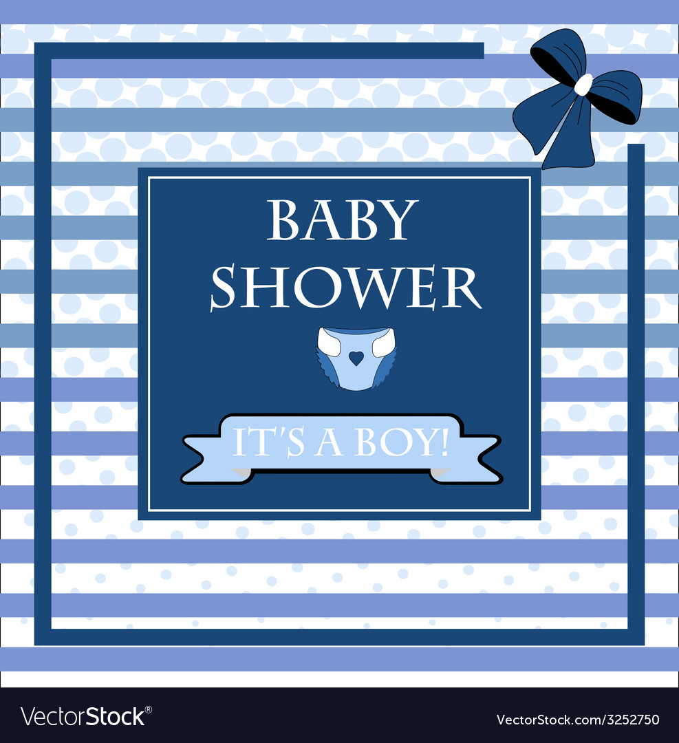 Baby shower card for baby boy vector | Price: 1 Credit (USD $1)