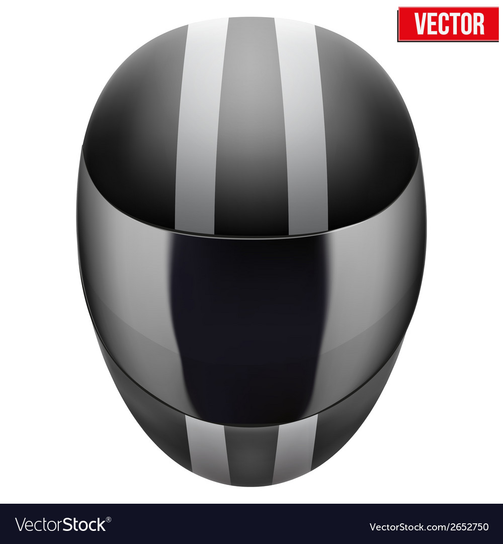 Black motorcycle helmet with strip vector | Price: 1 Credit (USD $1)