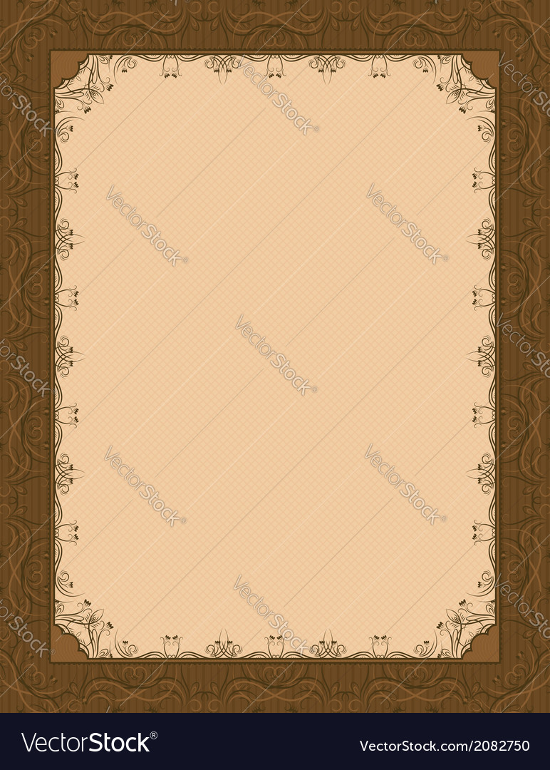 Brown background with decorative ornate vector | Price: 1 Credit (USD $1)