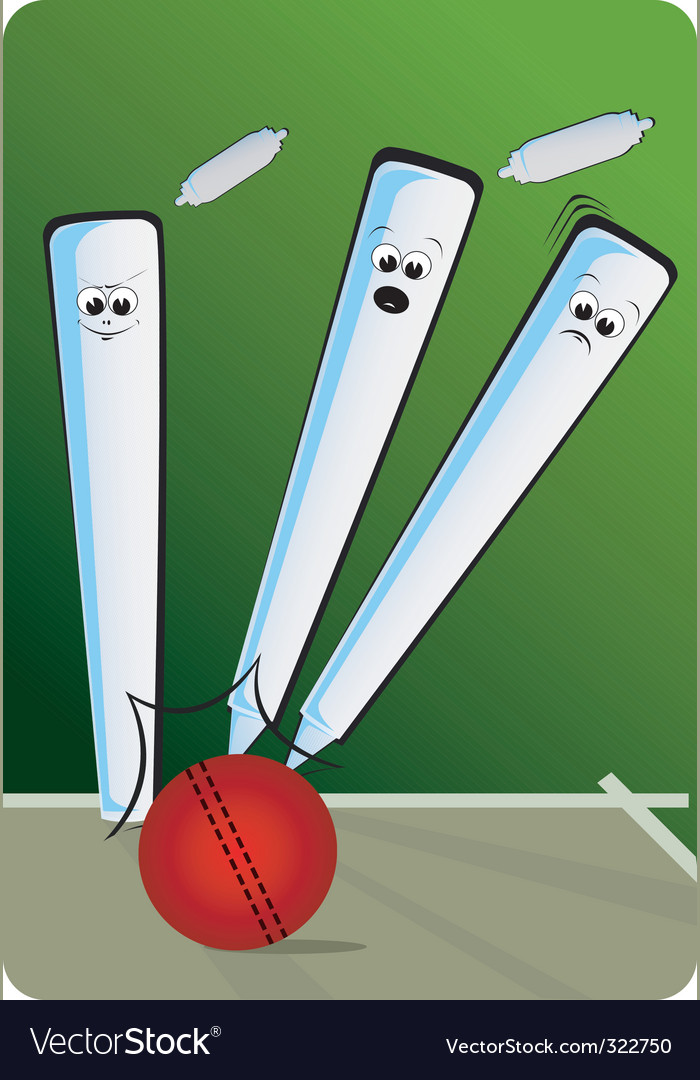 Cricket cartoon vector | Price: 3 Credit (USD $3)