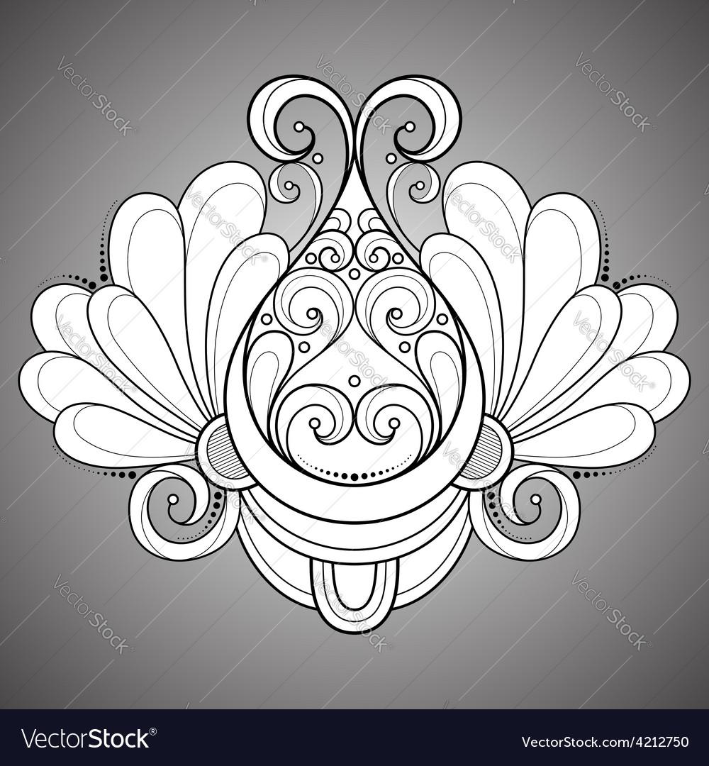 Deco symmetrical circle design vector | Price: 1 Credit (USD $1)